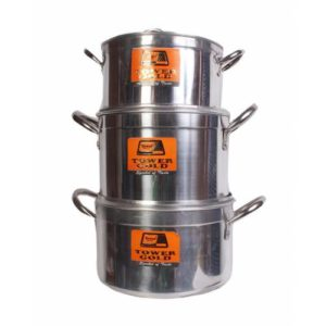 Private: Tower Gold 3 Pcs Cooking Pot Set