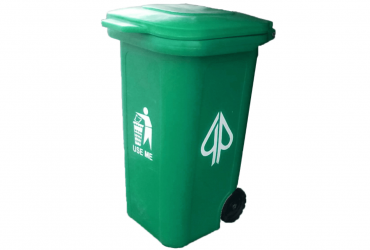 GEEPEE 240L PLASTIC WHEELIE WASTE BIN WITH DROP-OFF WINDOW