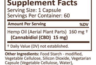 PLUS CBD CAPSULES 60CT 15MG