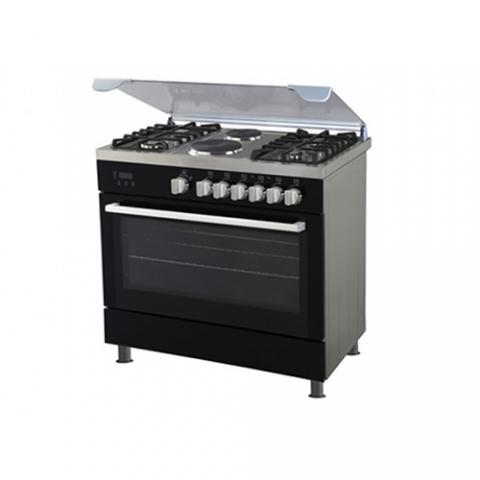 POLYSTAR 4 GAS BURNER + 2 HOT PLATE WITH OVEN GRILL COOKER |  PVND 90G2GP