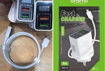 Oraimo Super Fast Charger With 2 USB Ports and Digital display