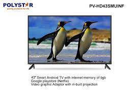 Polystar 43 Inches Android Smart LED Television With Netflix | PV-HD43SMUINF